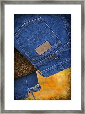 Wrangler Framed Print by Susan Candelario
