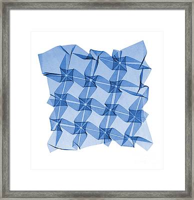 X-ray Of Mathematical Origami Framed Print by Ted Kinsman