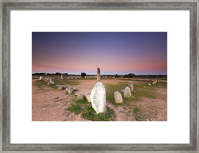 Xarez Cromlech Uring The Sunset Framed Print by Andre Goncalves