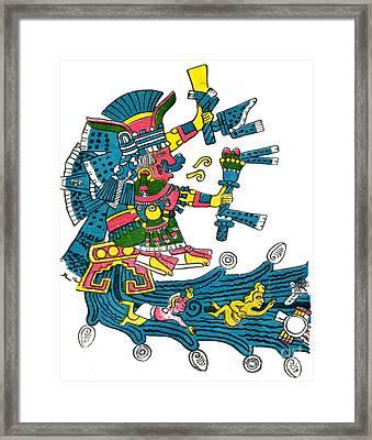 Xochiquetzal, Aztec Goddess Of Beauty & Framed Print by Photo Researchers