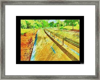 Framed Print featuring the painting Yellow by Beto Machado