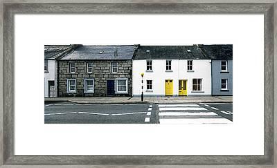 Yellow Doors Framed Print by Jan W Faul