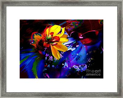 Yellow Flower Framed Print by Doris Wood
