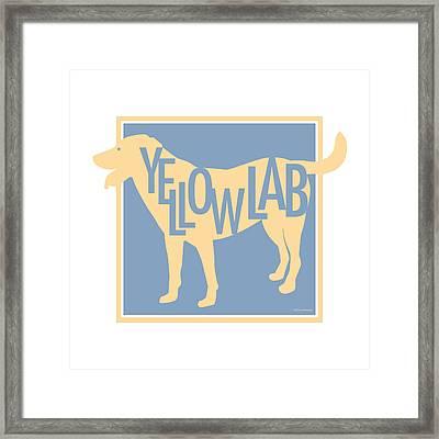 Yellow Lab Framed Print by Geoff Strehlow