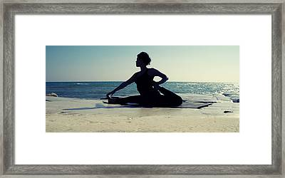 Yoga Framed Print by Stelios Kleanthous