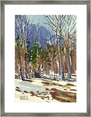 Yosemite Valley In Winter Framed Print by Donald Maier