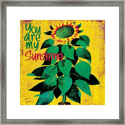 You Are My Sunshine Framed Print by Bonnie Bruno
