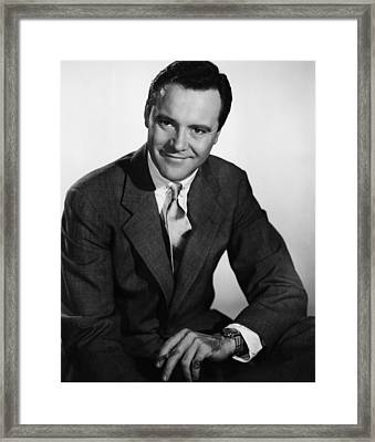You Cant Run Away From It, Jack Lemmon Framed Print