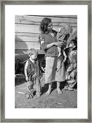 Young Mother Dressed In A Ragged Framed Print by Everett
