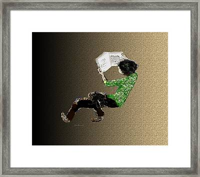 Framed Print featuring the digital art Young Reader by Asok Mukhopadhyay