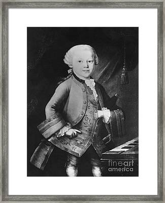 Young Wolfgang Amadeus Mozart, Austrian Framed Print by Omikron