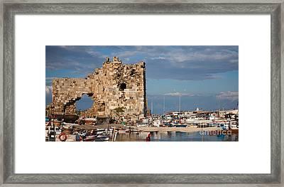 Yumurtalik Harbour Framed Print by Gabriela Insuratelu