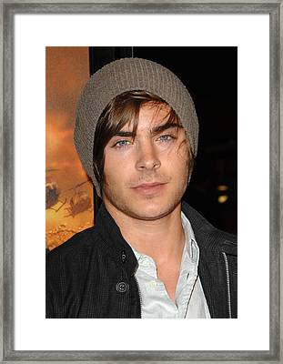 Zac Efron At Arrivals For Premiere Framed Print by Everett