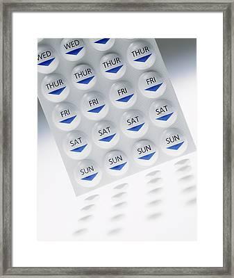 Zantac Blister Pack Framed Print by Steve Horrell