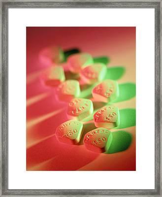 Zantac Pills Framed Print by Tek Image