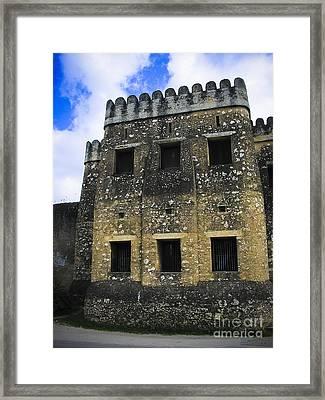 Zanzibar Old Fort Framed Print by Darcy Michaelchuk