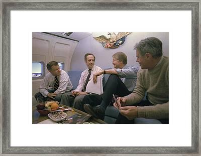 Zbigniew Brzezinski Michael Blumenthal Framed Print