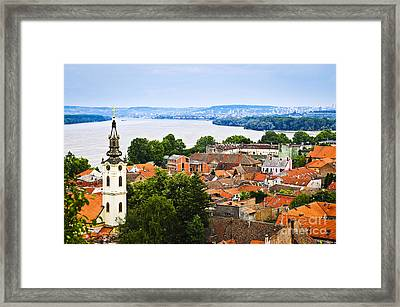 Zemun Rooftops In Belgrade Framed Print by Elena Elisseeva