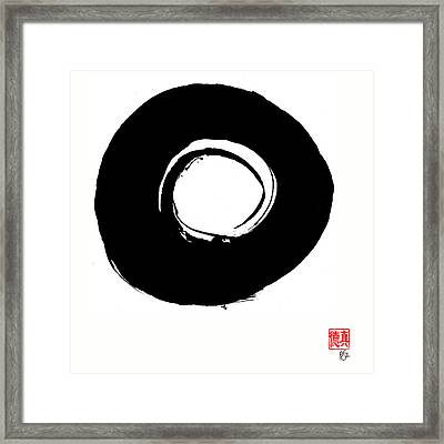 Zen Circle Six Framed Print