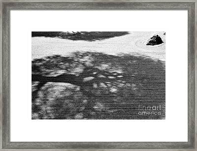 Zen Garden Abstract Framed Print