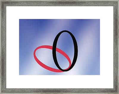 Zero - Concept And Symbol Framed Print by Sheila Terry