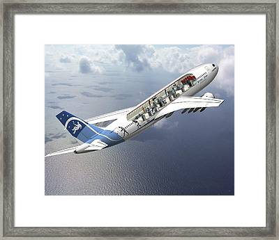 Zero-g Airbus Aircraft, Artwork Framed Print by David Ducros