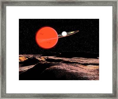 Zeta Piscium Is A Binary Star System Framed Print