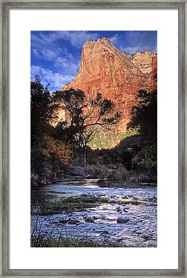 Zion National Park View Framed Print by Dave Mills