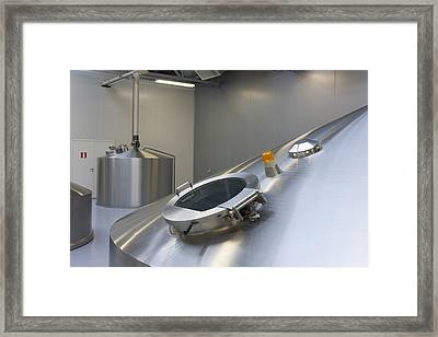 A Modern Working Brewery In Estonia Framed Print by Jaak Nilson