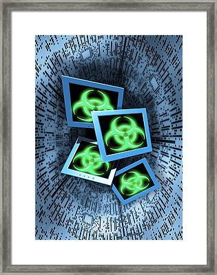 Computer Virus, Conceptual Artwork Framed Print by Victor Habbick Visions