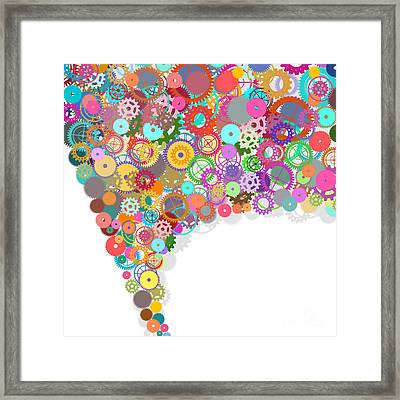 Gears Wheels Design  Framed Print