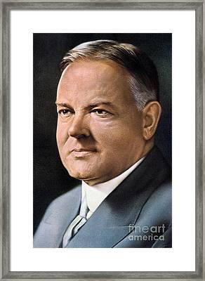 Herbert Hoover (1874-1964) Framed Print