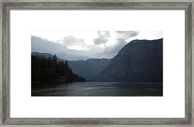 Lake Bohinj At Dusk Framed Print