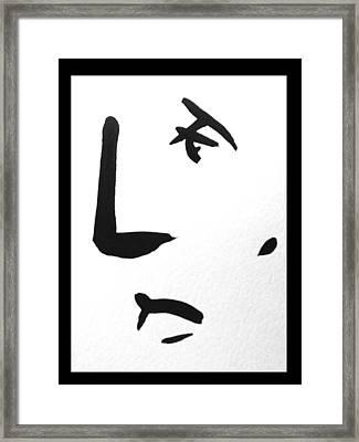 10 Lines Framed Print by Bert Eelen