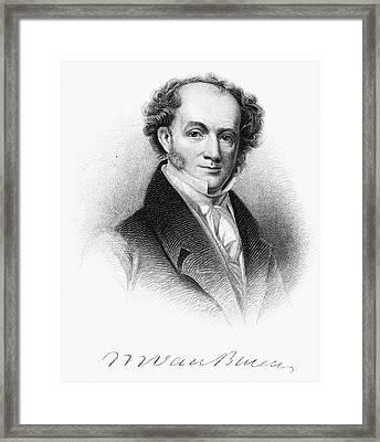 Martin Van Buren (1782-1862) Framed Print