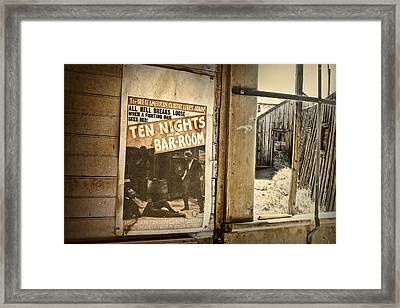 10 Nights In A Bar Room Framed Print by Scott Norris