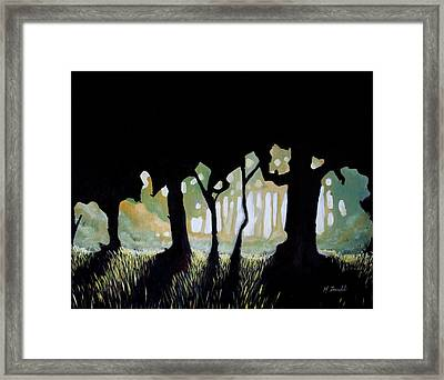 Framed Print featuring the painting ... by Mariusz Zawadzki