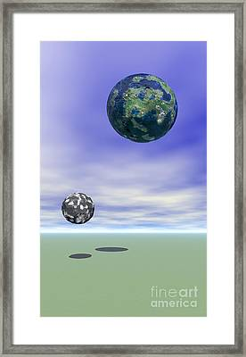 Planets Framed Print by Odon Czintos