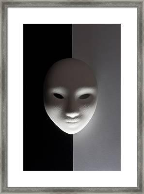 Plaster Mask In Studio Framed Print by Kantapong Phatichowwat