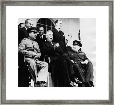 President Franklin D. Roosevelt Front Framed Print by Everett