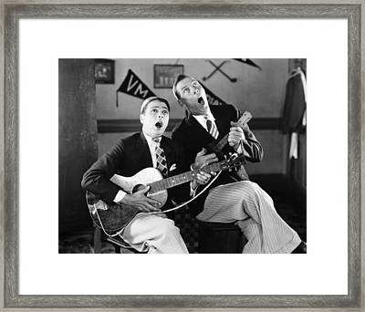 Silent Film Still: Music Framed Print by Granger