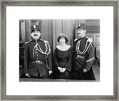 Silent Still: Courtroom Framed Print by Granger
