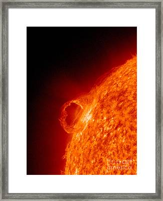 Solar Prominence Framed Print by Science Source