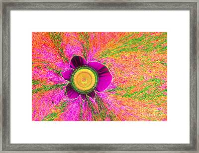 Vitamin C Crystal Framed Print