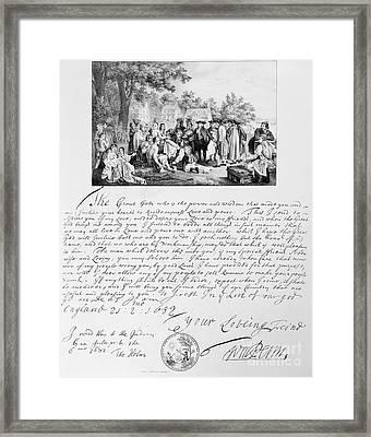 William Penn (1644-1718) Framed Print