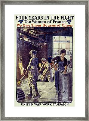 World War I: U.s. Poster Framed Print by Granger