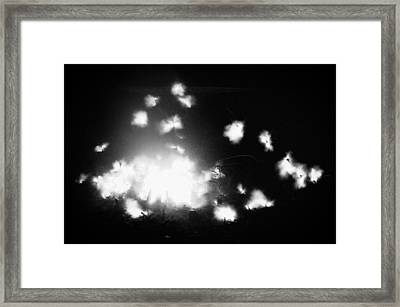 100 Bangs For A Buck Framed Print by Shane Rees