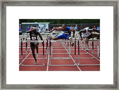 100 Meters Men's Hurdles Framed Print