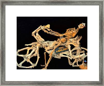 100000 Dollar Chopper Framed Print