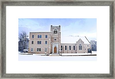 1001-0369 Cherry Street Baptist Of Clarksville Framed Print by Randy Forrester